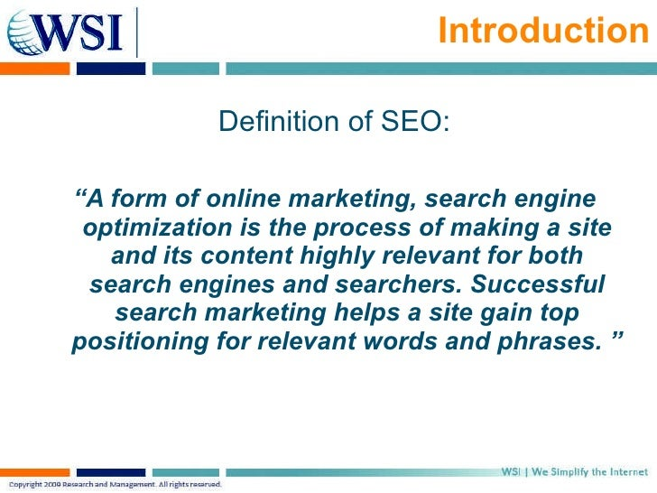 What is Search Engine Optimization? - Definition & Information