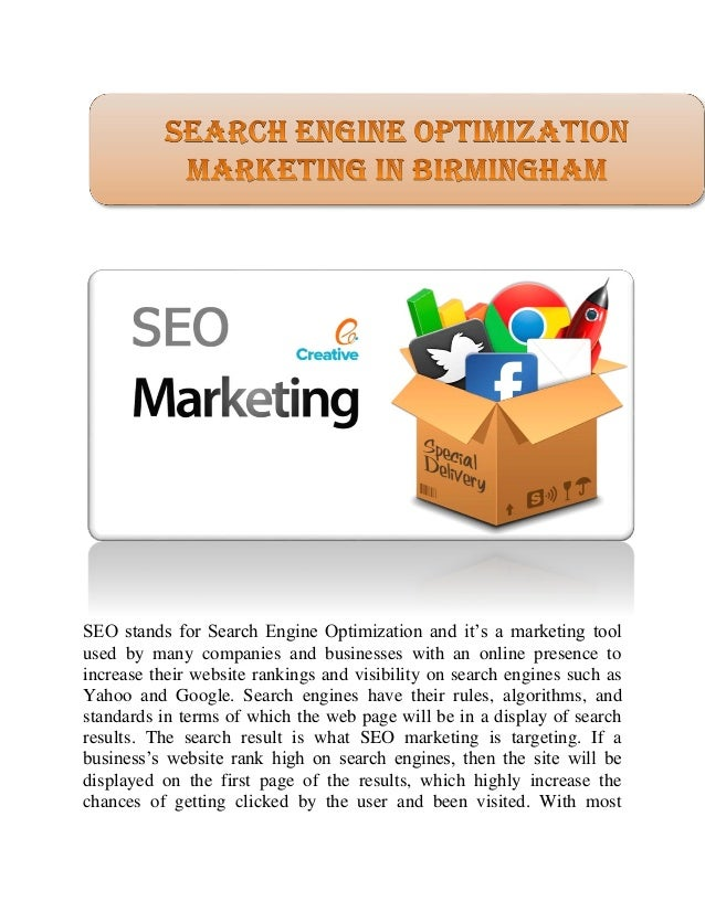 seo stands for search engine optimization Seo stands for search engine optimization it is the art, craft, and science of driving web traffic to web sites learning how to construct web sites and pages to improve and not harm the search engine placement of those web sites and web pages has become a key component in the evolution of seo.