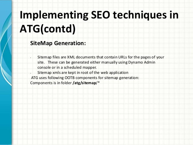 search engine optimization seo from endeca atg