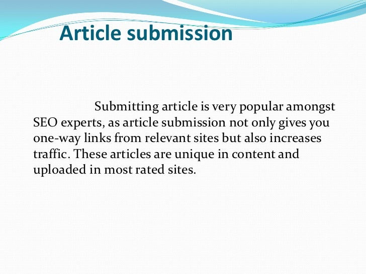 submit articles seo