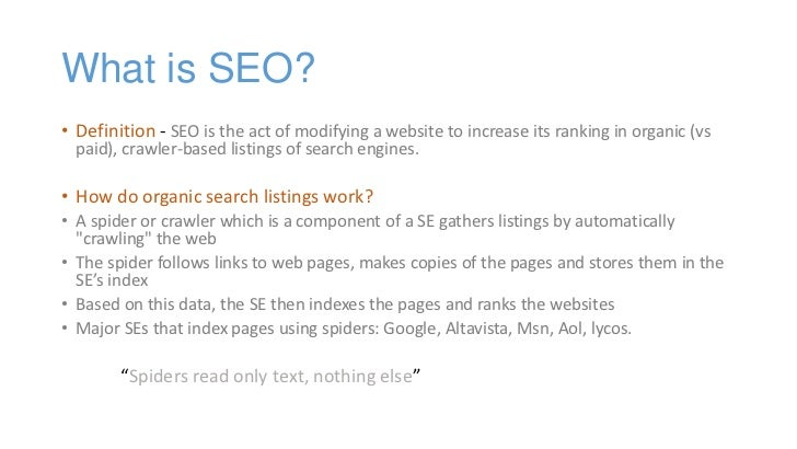 how to increase seo search engine Search engine land's guide to seo and companion piece to the periodic table of seo success factors make no mistake search engines want people to perform seo because it can help improve their search results search engines provide help in the form of guidelines.
