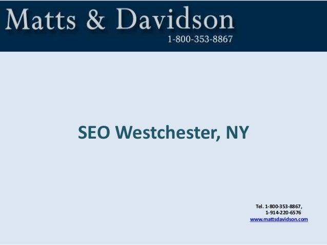Tel. 1-800-353-8867, 1-914-220-6576 www.mattsdavidson.com SEO Westchester, NY
