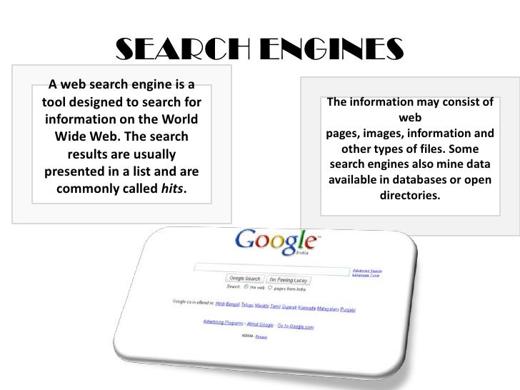 search engines Slide 3