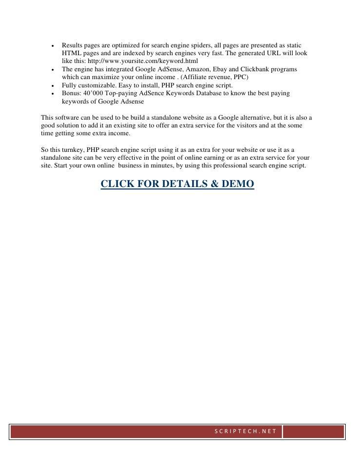 AdSense Search Engine Script - scriptplazza.com