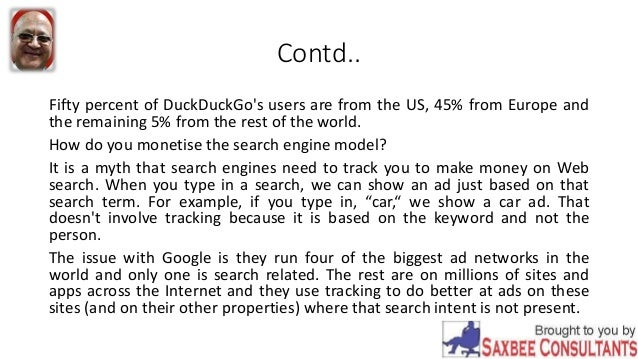 Search Engines Don't Need To Track People To Make Money