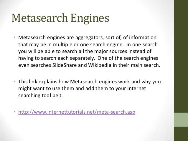 how to start a metasearch engine