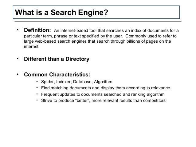 Search engine optimization | Define Search engine ...