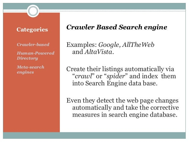 Learn The Search Engine Type And Its Functions