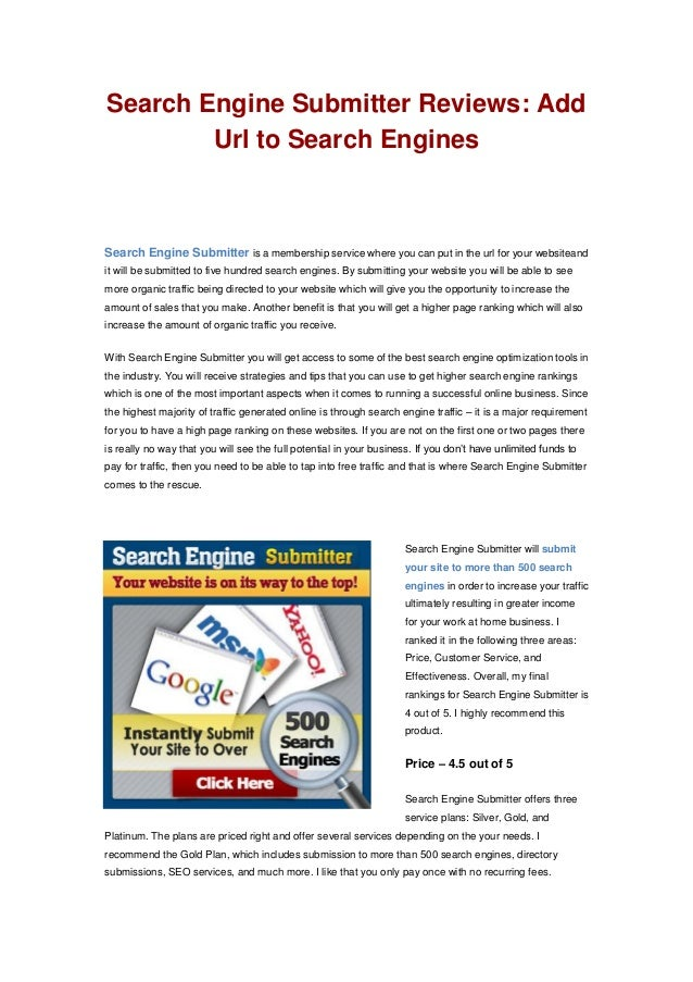 Search engine submitter free