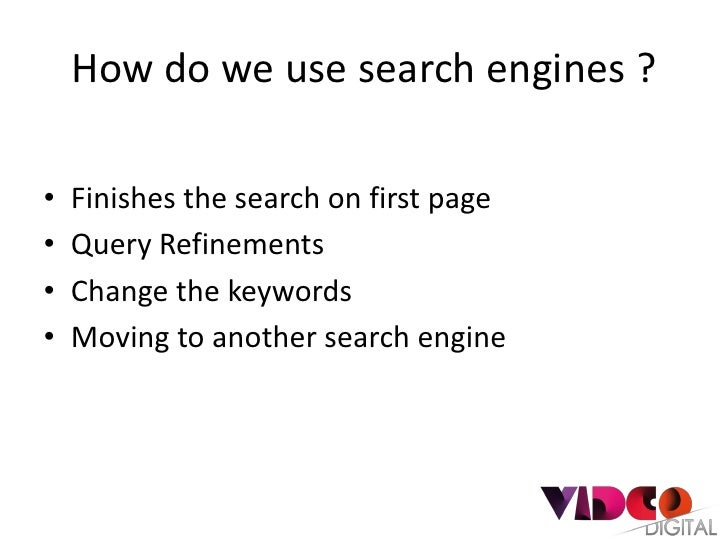 Search engine user behaviours Slide 2