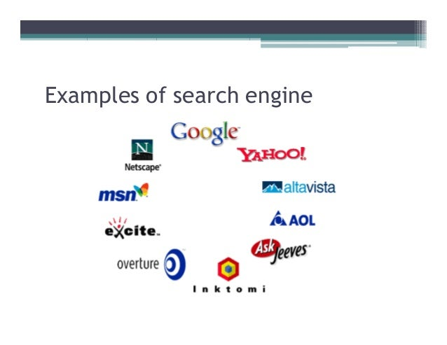 A look at internet search engines