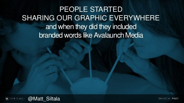 PEOPLE STARTED SHARING OUR GRAPHIC EVERYWHERE and when they did they included branded words like Avalaunch Media @Matt_Sil...
