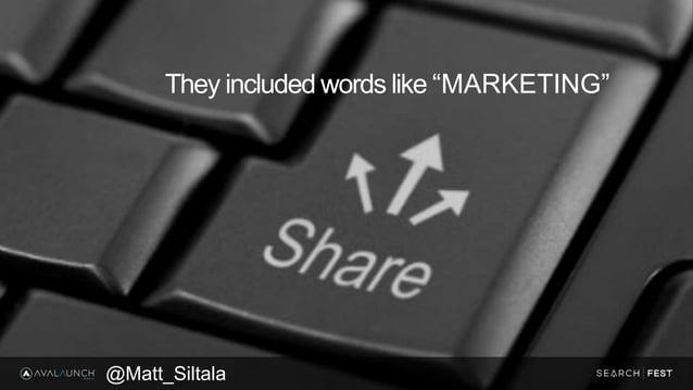 "They included words like ""MARKETING"" @Matt_Siltala"