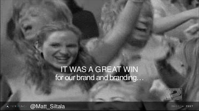 for our brand and branding… IT WAS A GREAT WIN @Matt_Siltala
