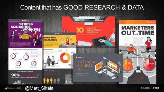 Content that has GOOD RESEARCH & DATA @Matt_Siltala