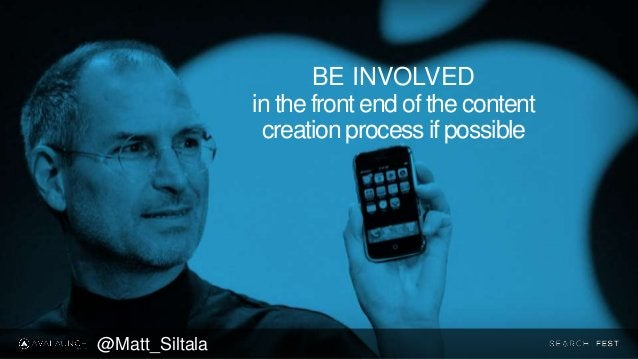BE INVOLVED in the front end of the content creation process if possible @Matt_Siltala
