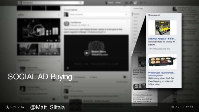 SOCIAL AD Buying @Matt_Siltala
