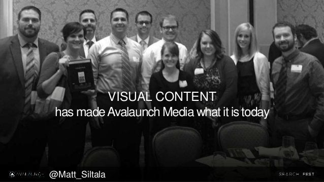 VISUAL CONTENT has madeAvalaunch Media what it is today @Matt_Siltala