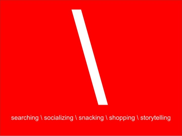 searching socializing snacking shopping storytelling