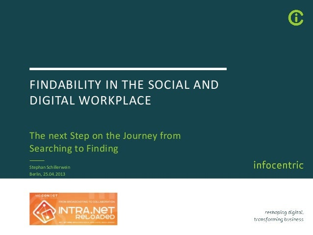 FINDABILITY IN THE SOCIAL ANDDIGITAL WORKPLACEThe next Step on the Journey fromSearching to FindingStephan SchillerweinBer...
