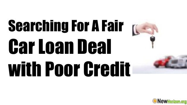 loan deals fair credit