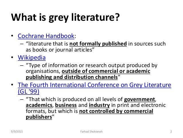 what is grey literature