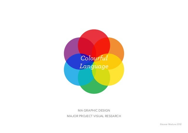 Colourful Language MA Graphic Design Major project Visual Research Eleanor Maclure 2012