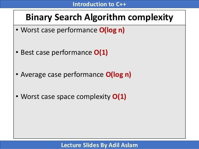 What is the best case in binary search? - Quora