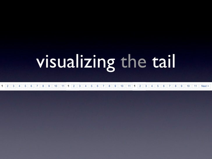 visualizing the tail