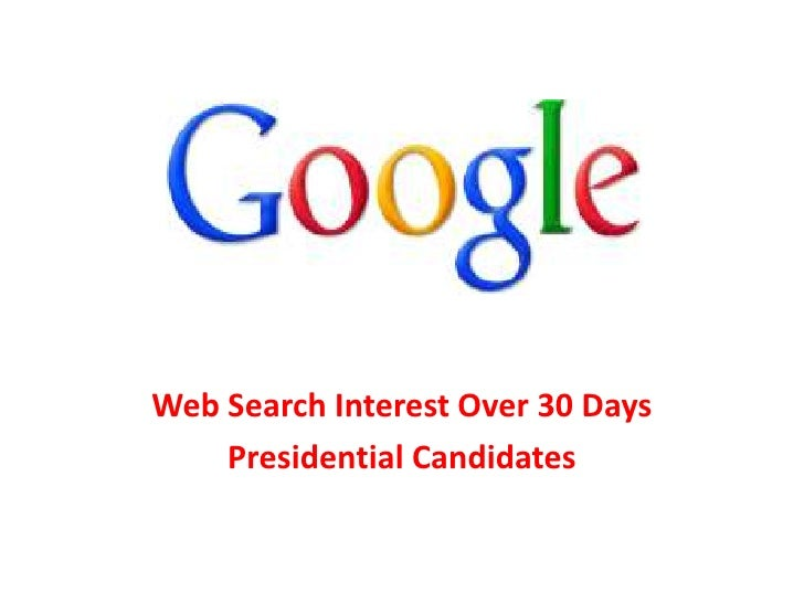 Web Search Interest Over 30 Days    Presidential Candidates