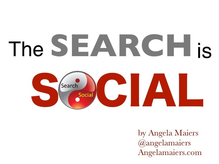 The SEARCH is        by Angela Maiers        @angelamaiers        Angelamaiers.com