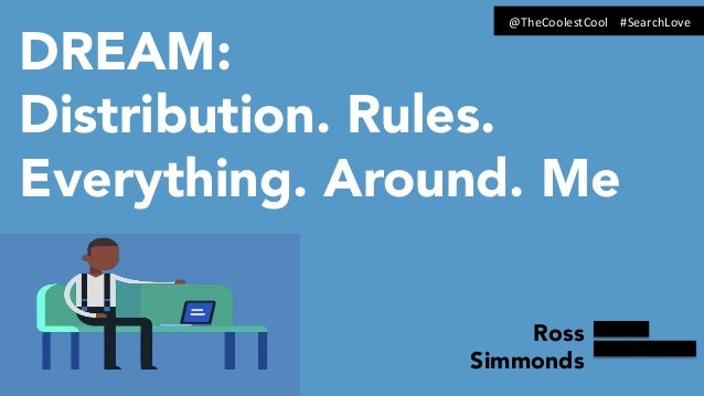 DREAM: Distribution. Rules. Everything. Around. Me Ross Simmonds @TheCoolestCool	   	   	   	   #SearchLove