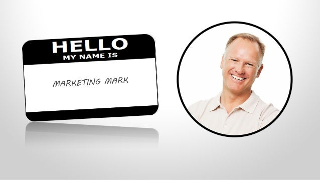 MARKETING MARKProfile• Professional marketer (VP, Director, Manager)• Mid-sized company (25-200 employees)• Small marketin...