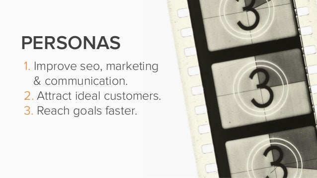 1. Improve seo, marketing& communication.2. Attract ideal customers.3. Reach goals faster.PERSONAS