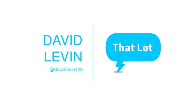 DAVID LEVIN @davidlevin123