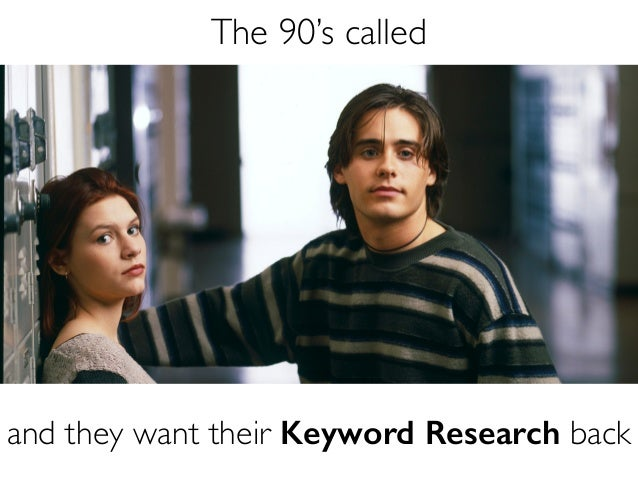 1999 Called and they want their Keyword Research back. Did he say keyword research?