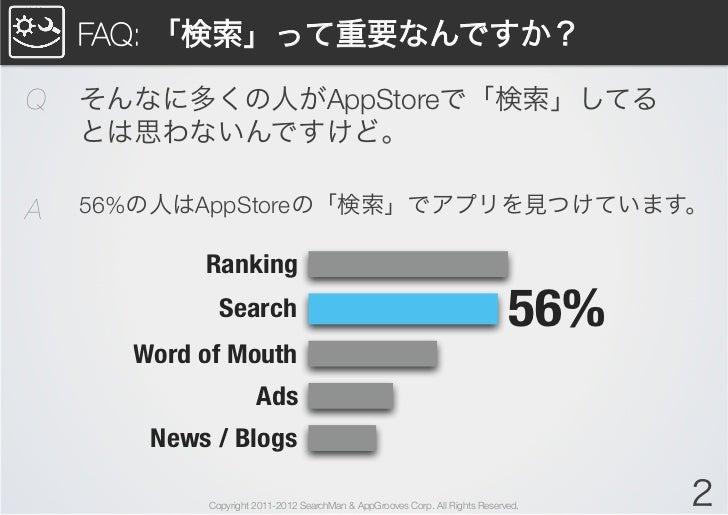 AppStore SEOでダウンロードを増やす方法(初級者編)【2012/9/1改訂 含Chomp対策】 Slide 2