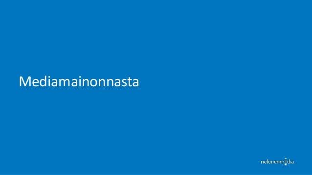 Mediaryhmäkohtaiset muutokset Q2/2013  Lähde: http://www.tns-gallup.fi/doc/uutiset/Lehdistotiedote_Mediamainonnan_kehitys_...