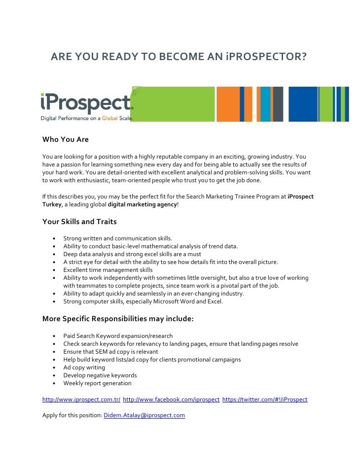 ARE YOU READY TO BECOME AN iPROSPECTOR?Who You AreYou are looking for a position with a highly reputable company in an exc...