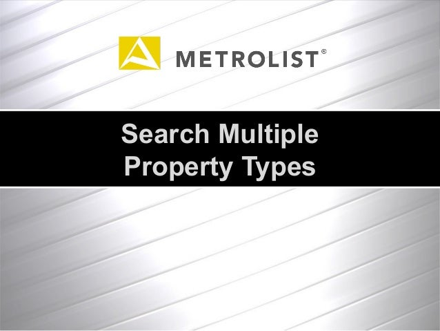 Search Multiple Property Types