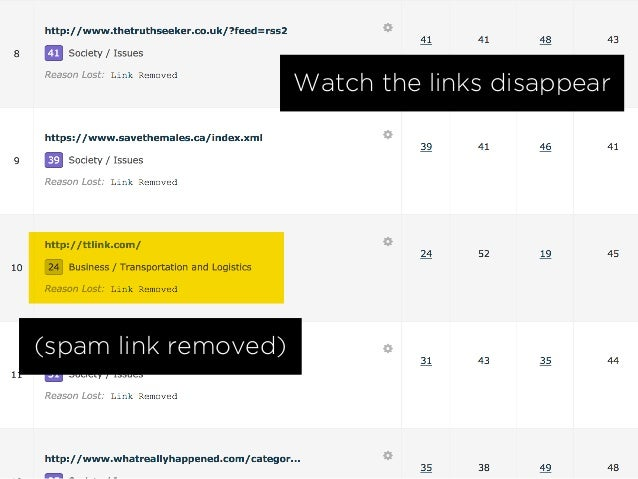 Watch the links disappear (spam link removed)