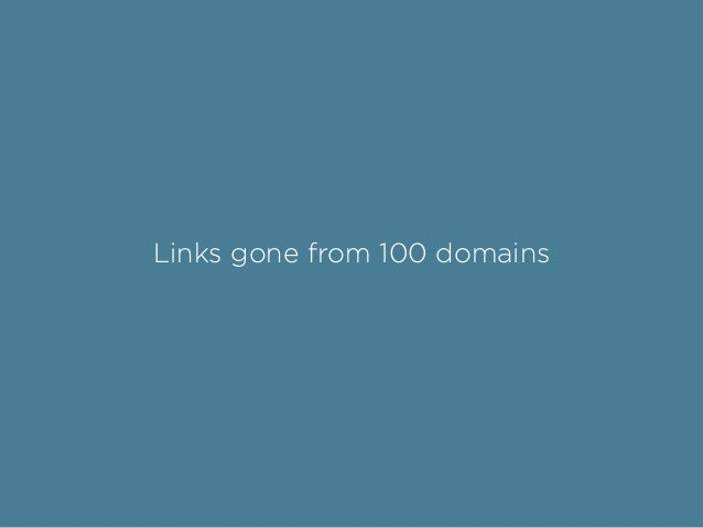 Links gone from 100 domains
