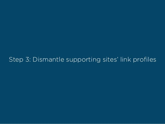 Step 3: Dismantle supporting sites' link profiles