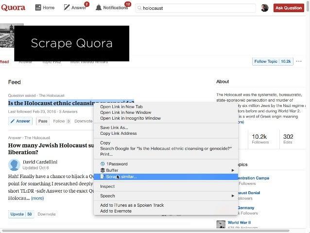Scrape Quora
