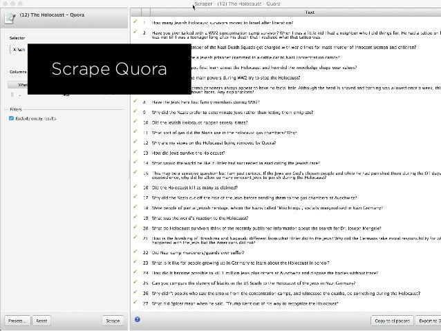 Scrape QuoraScrape Quora