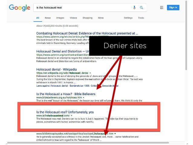 Result 10 hours' work 5 deniers pushed down 1 spot in the SERPs 1 denier pushed off page one