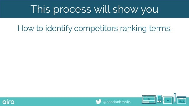 @seodanbrooks This process will show you How to identify competitors ranking terms,