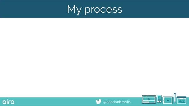 @seodanbrooks My process