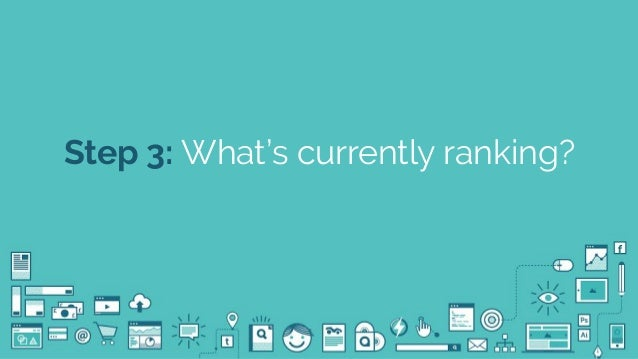 @seodanbrooks Step 3: What's currently ranking?