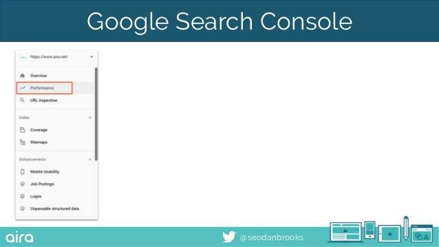 @seodanbrooks Google Search Console